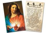 Sacred Heart Holding Heart Holy Card