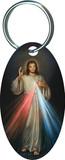 Divine Mercy Oval Keychain