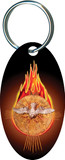 Holy Spirit Fire Oval Keychain