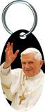 Pope Benedict XVI Waving Oval Keychain