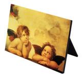 Sistine Madonna Angels Horizontal Desk Plaque
