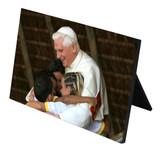 Pope Benedict with Children Horizontal Desk Plaque