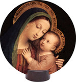 Our Lady of Good Counsel Round Desk Plaque