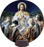 Christ, Bread of Angels Round Desk Plaque