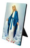 Our Lady of Grace Vertical Desk Plaque