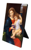Madonna of the Grapes Vertical Desk Plaque