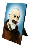 St. Padre Pio Vertical Desk Plaque