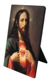 Sacred Heart Vertical Desk Plaque