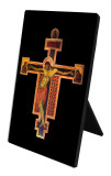 Byzantine Crucifix Vertical Desk Plaque