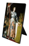 St. Joan of Arc Vertical Desk Plaque