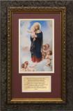 Notre Dame des Anges with Prayer Framed