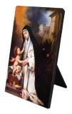 St. Rose of Lima Vertical Desk Plaque