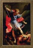 St. Michael Church-Sized Framed Canvas Art