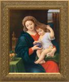 Madonna of the Grapes - Gold Framed Art