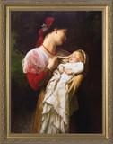 Maternal Admiration - Ornate Gold Framed Art