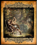 Jacob Wrestling Angel Graphic Wall Plaque