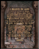 Apostles Creed Graphic Wall Plaque