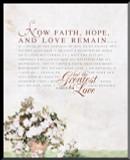 1 Corinthians 13 Graphic Wall Plaque