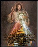 JPII Eucharist/Divine Mercy Graphic Wall Plaque