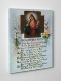 Sacred Heart House Blessing Gallery Wrapped Canvas