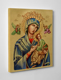 Our Lady of Perpetual Help (Gold) Gallery Wrapped Canvas