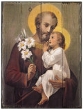 St. Joseph (Younger) Rustic Wood Plaque