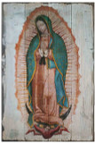 Our Lady of Guadalupe (Full Image) Rustic Wood Plaque
