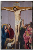 St. Peter's Stations of the Cross Rustic Wood Plaque (Set of 14)