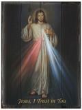 Divine Mercy (Hyla) Rustic Wood Plaque