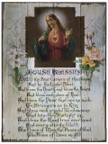 Sacred Heart House Blessing Rustic Wood Plaque