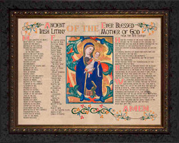 Ancient Irish Litany of Our Lady Framed Art