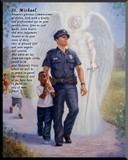 The Protector: Police Guardian Angel Wall Plaque with St. Michael Prayer