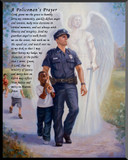 The Protector: Police Guardian Angel Wall Plaque with Policeman's Prayer