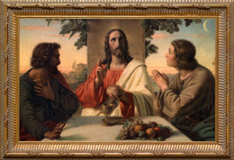 The Breaking of the Bread Church-Sized Framed Canvas