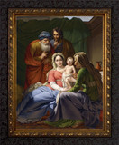 Holy Family with Grandparents Joachim and Anne Framed Canvas