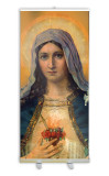 Antique Immaculate Heart Banner Stand