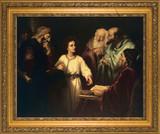 Christ in the Temple Framed Art