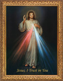 Divine Mercy - Standard Gold Framed Art