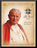 Pope John Paul II Saint Commemorative Wall Plaque