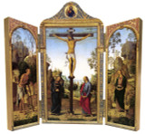 Crucifixion by Perugino Triptych Plaque