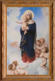 Notre Dame des Anges by William Bouguereau: Ornate Gold Framed Print