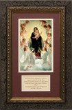 Queen of Angels Matted with Prayer - Ornate Dark Framed Art