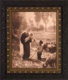 Gift of the Shepherd - Ornate Dark Framed Art