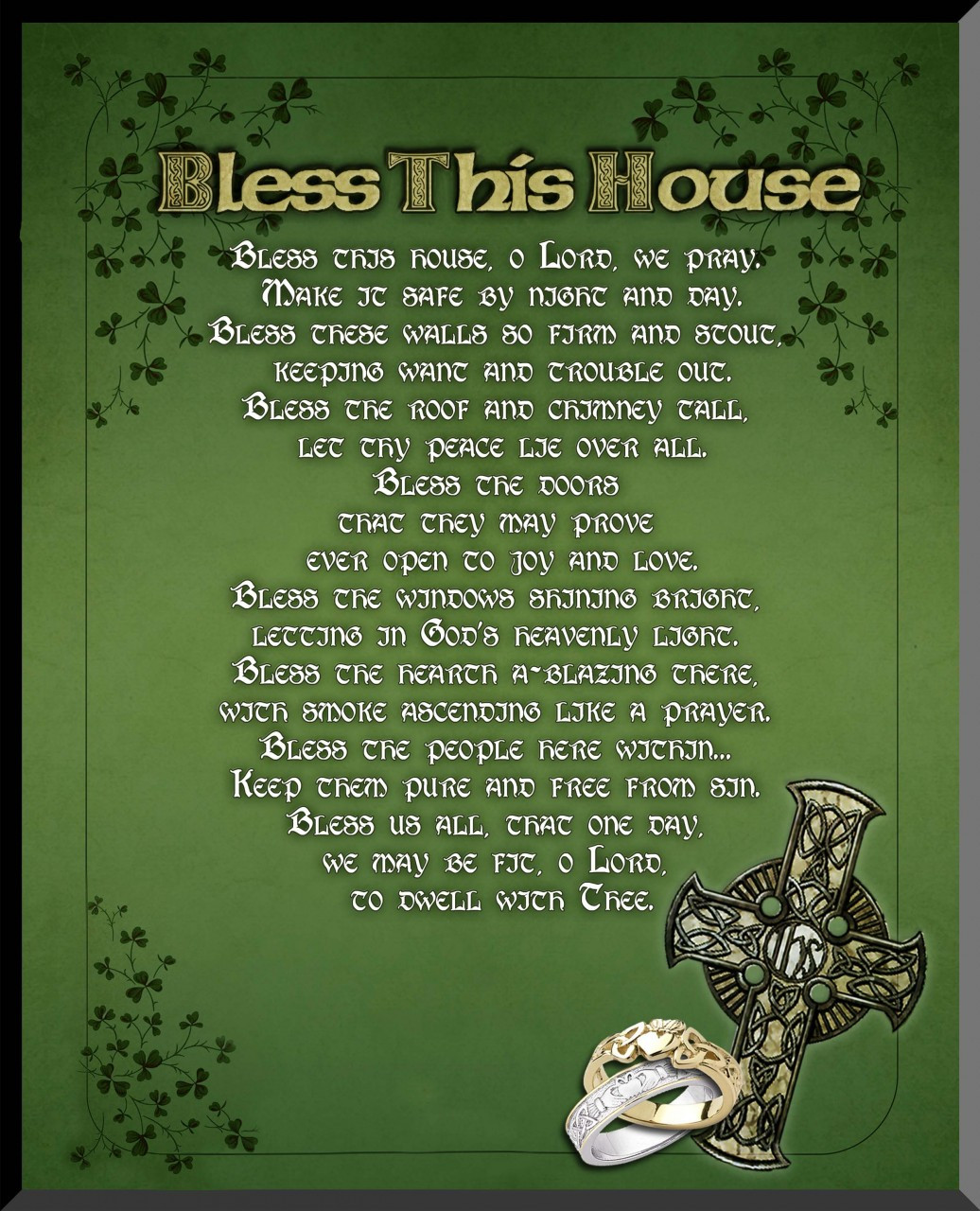 Irish Quot Bless This House Quot Wall Plaque Catholic To The Max