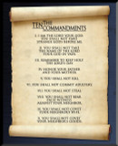 10 Commandments Graphic Wall Plaque