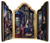 Adoration of the Infant Jesus Triptych Plaque