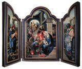 Adoration of the Magi (Dark Blue) Tripytch Plaque