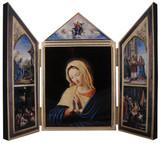 The Virgin, After Sassoferrato Triptych Plaque