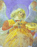Angel playing the Viol print