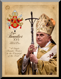 Pope Benedict XVI Commemorative Wall Plaque